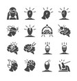 headache icon set vector image vector image