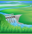 hydro dam water power energy vector image vector image