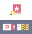 Icon Logo design element with business card vector image vector image