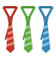 isolated striped ties on white background vector image