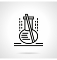 Lab flask black line icon vector image vector image