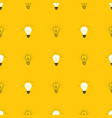 light bulb seamless pattern hand drawn vector image