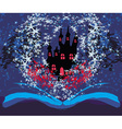 magical castle with book vector image vector image