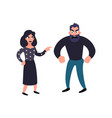 man and woman conflict family quarrel vector image