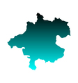 Map of Upper Austria vector image vector image