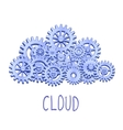 Mechanical gears cloud vector image vector image