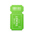 mockup green admit event ticket 3d realistic vector image