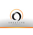 o letter logo design with black orange color cool vector image vector image