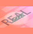 real or fake information isometric data vector image vector image