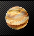 realistic jupiter with texture colorful planet on vector image vector image
