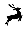 reindeer is skipping for christmas icon isolated vector image vector image