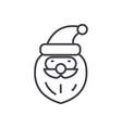 Santa claus head concept thin line icon vector image