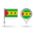 Sao Tome and Principe pin icon map pointer flag vector image