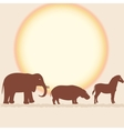 Savanna card with african animals vector image vector image