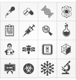 Science Black White Icons Set vector image vector image
