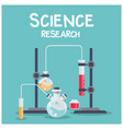 science research chemical laboratory blue backgrou vector image vector image