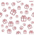Seamless white pattern with red gift boxes vector image vector image