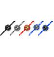 set of bicolour bows vector image