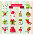 Set of Merry Christmas stickers vector image vector image