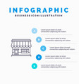 shop online market store building line icon with vector image vector image