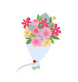 spring bouquet of flowers valentines day wedding vector image