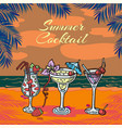 summer coctail party tropical vector image vector image