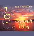summer vibes card vector image vector image