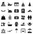 supper icons set simple style vector image