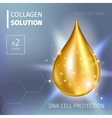 Supreme collagen oil drop essence Premium shining vector image vector image