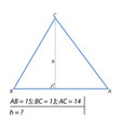 the task of finding the height of the triangle-01 vector image vector image