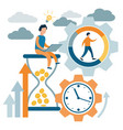 time management control time is money lack of vector image