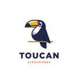 toucan logo design vector image vector image