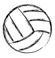 volleyball balloon isolated icon vector image vector image