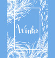 winter frozen window background vector image vector image