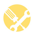 wrench and screwdriver icon vector image vector image