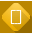 icon of Tablet PC with a long shadow vector image