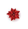 red shiny ribbon vector image