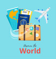 travel and tourism advertisement banner vector image