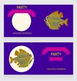 0615 16 piranha party v vector image