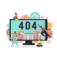 404 page not found error concept vector image vector image