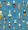 a seamless pattern rockets vector image vector image
