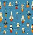 A seamless pattern rockets