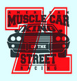 american muscle car t shirt print design vector image