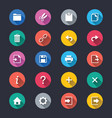 application toolbar simple color icons vector image