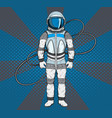 astronaut in pop art style cosmonaut on blue vector image