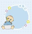 baby boy with cake vector image vector image