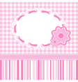 baby girl card with stripes and flowers vector image vector image