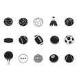 ball icons collection vector image vector image