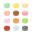 bright macaron set with different tastes vector image