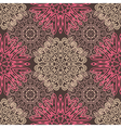 Brown seamless pattern with tracery ornaments vector image vector image